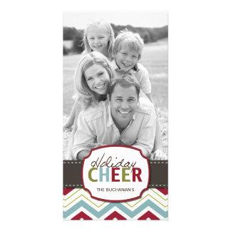 Modern Chevron Customizable Photo Card