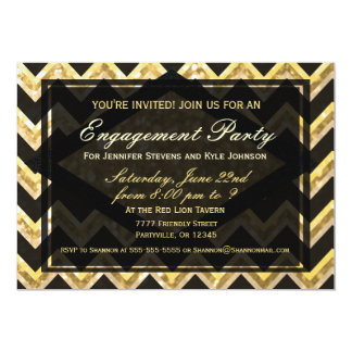 Modern Chevron Glitter Pattern Card