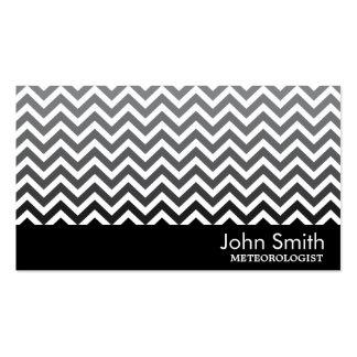 Modern Chevron Meteorological Business Card