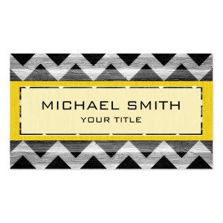 Modern Chevron Pattern #14 Business Card Template