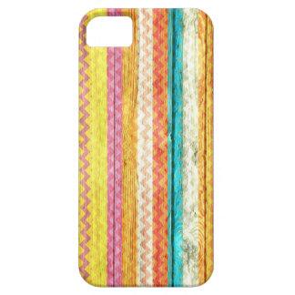 Modern Chevron Pattern Wooden iPhone SE/5/5s Case