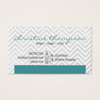Modern Chevron Professional Business Card