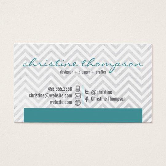 Modern Chevron Professional Business Card