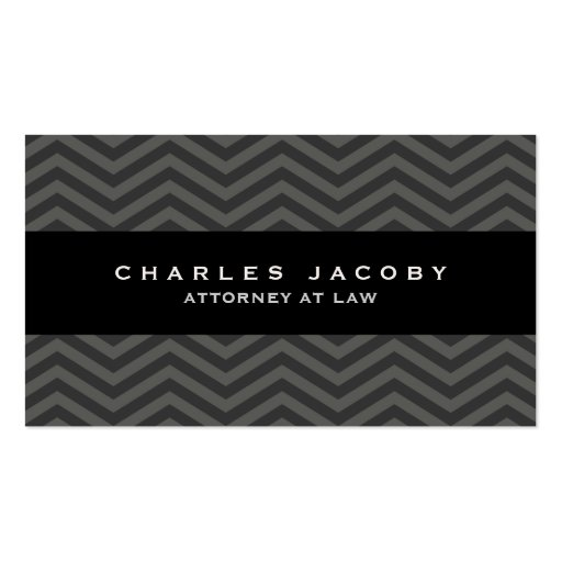 Modern Chevron Professional Male Business Card