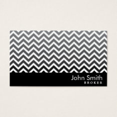 Modern Chevron Real Estate Broker Business Card at Zazzle