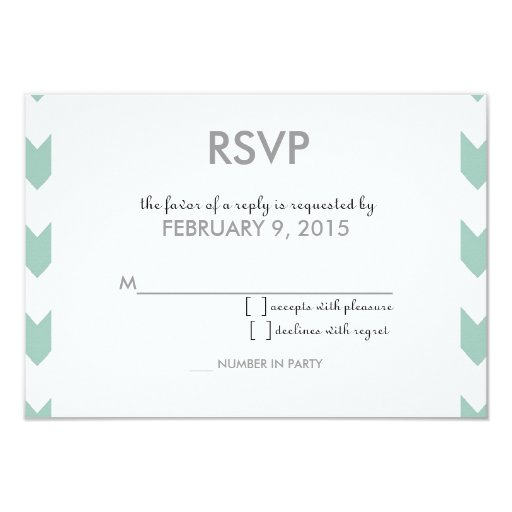 Modern Chevron Square Informal Couple Invite RSVP