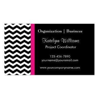 Modern Chevron Stripes Business Cards