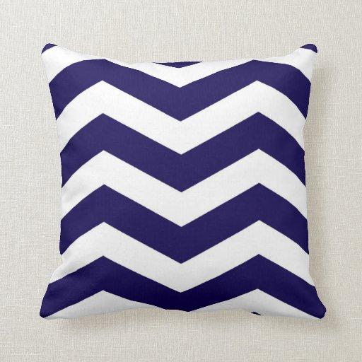 Modern Chevron Stripes in Cobalt Blue and White Throw Pillow Zazzle