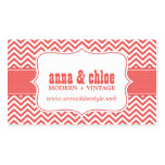 Modern Chevron Stripes Professional Business Card