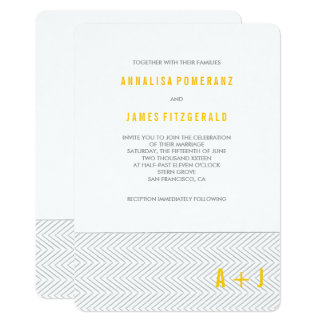 Modern Chevron Stripes | Wedding Invitation