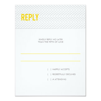 Modern Chevron Stripes | Wedding Reply RSVP Card