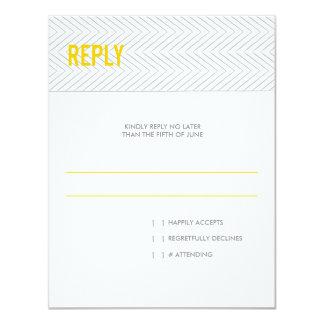 Modern Chevron Stripes | Wedding Reply RSVP Card