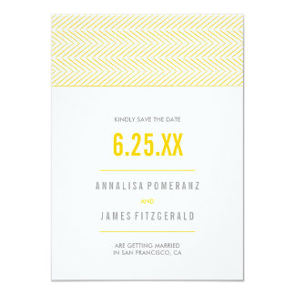 Modern Chevron Stripes | Wedding Save The Date Card