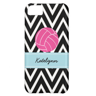 Modern Chevron Zigzag Pink Volleyball iPhone 5C iPhone 5C Cases