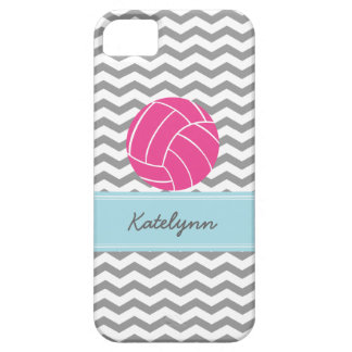 Modern Chevron Zigzag Pink Volleyball iPhone Case iPhone 5 Covers