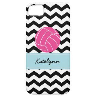 Modern Chevron Zigzag Pink Volleyball iPhone Case iPhone 5 Case