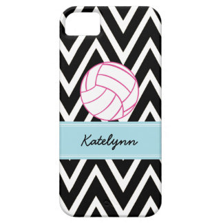Modern Chevron Zigzag Pink Volleyball iPhone Case iPhone 5 Cover