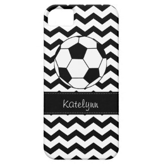Modern Chevron Zigzag Soccer iPhone 5 Case