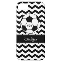Modern Chevron Zigzag Soccer Phone Case Cover