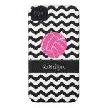 Modern Chevron Zigzag Volleyball iPhone 4 Case