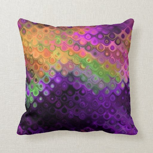 Modern Chic Pillows : Modern Chic Abstract Peacock Feathers Throw Pillow Zazzle