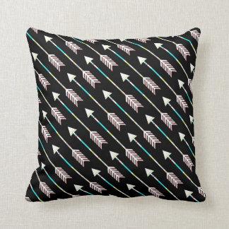 Modern Chic Aztec Hipster Arrows Tribal Arrows Throw Pillow