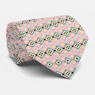 Aztec Themed Modern Chic Aztec Hipster Geometric Pattern Tie