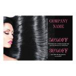 modern chic  beauty salon Hair Stylist Full Color Flyer