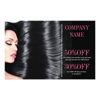 modern chic  beauty salon Hair Stylist Flyer
