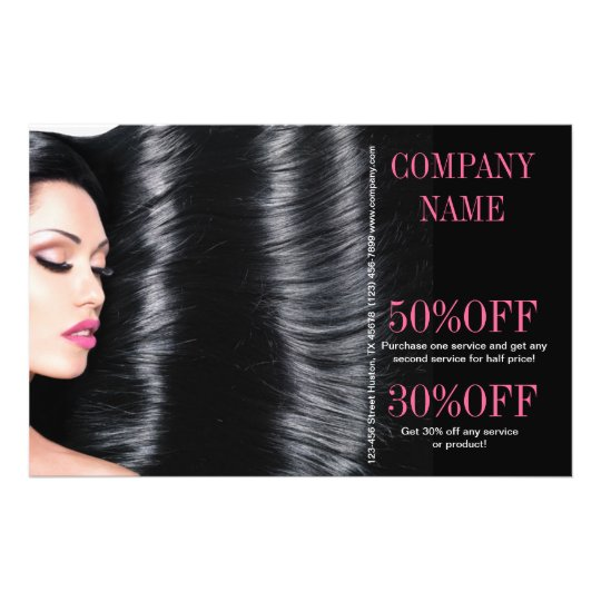 Modern Chic Beauty Salon Hair Stylist Flyer Zazzle