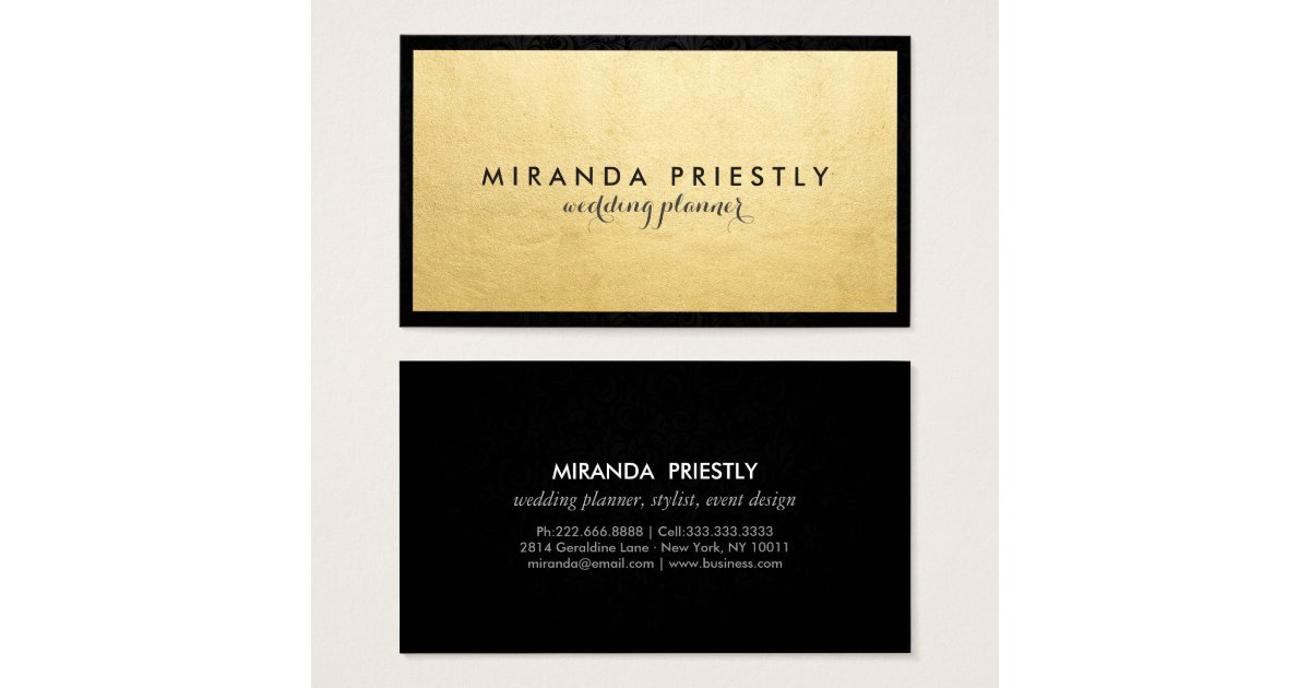 Gold Foil Business Cards & Templates | Zazzle