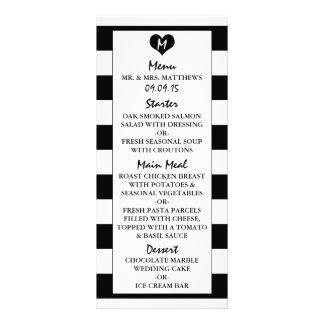 Modern Chic Black & White Wedding Menu