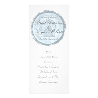 Modern & Chic Blue Tree Slice Wedding Rackcard Rack Card