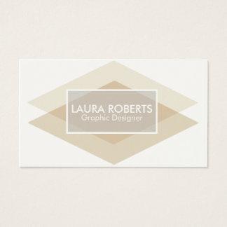 Modern & Chic Blush Diamond Overlay Business Card