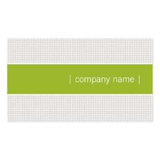 Modern Chic Business Card (Apple Green)