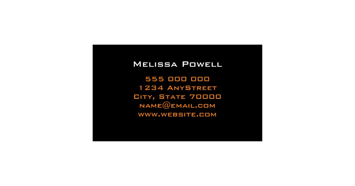 Modern chic business card template double sided zazzle for Double sided business cards template