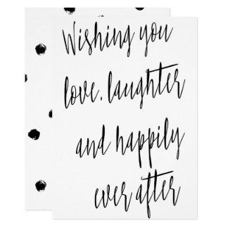 "Modern chic calligraphy ""Wishing you love"" Card"