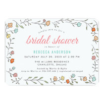 Modern Chic Casual Floral Bridal Shower Card