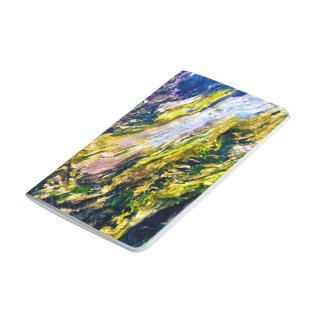 Modern Chic Colorful Wood Grain Photo Pattern Journal