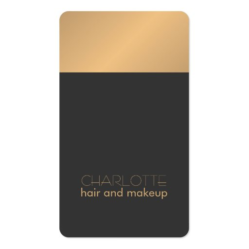 Modern chic copper grey hair and makeup business card zazzle for Hair and makeup business cards
