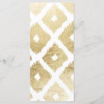 Modern chic faux gold leaf ikat pattern