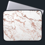 "Modern chic faux rose gold white marble laptop sleeve<br><div class=""desc"">A cool,  original and modern faux rose gold foil and white marble. A chic and elegant design with a luxurious touch.</div>"