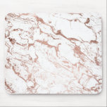 "Modern chic faux rose gold white marble mouse pad<br><div class=""desc"">A cool,  original and modern faux rose gold foil and white marble. A chic and elegant design with a luxurious touch.</div>"