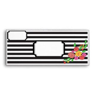 modern chic floral stripes envelope