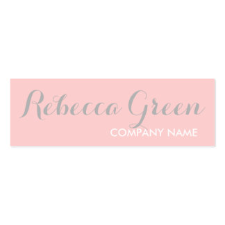modern chic girly beauty salon fashion blush pink Double-Sided mini business cards (Pack of 20)
