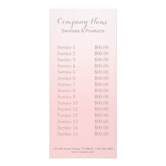 modern chic girly beauty salon fashion blush pink personalized rack card