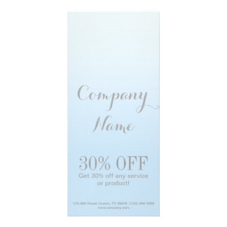 modern chic girly beauty salon fashion powder blue rack card