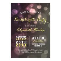 Modern Chic Glitter Bokeh Bachelorette Party Card