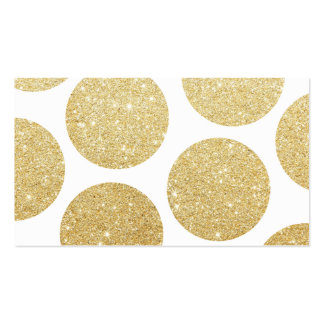 Modern chic gold glitter effect polka dots pattern Double-Sided standard business cards (Pack of 100)