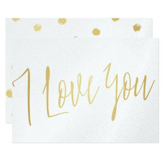 "Modern Chic Gold  ""I love you"" Card"